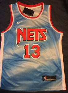 James Harden Brooklyn Nets Jersey Classic Edition #13 Blue NBA Size Large