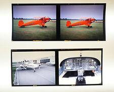 "Dias Dia Mittelformat 7x6 cm - 4 x ""Flugzeug + Cockpit"" - B2460"