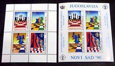 Schach-Olympiade 1990, Bl. 38/39 postfrisch (P0206)
