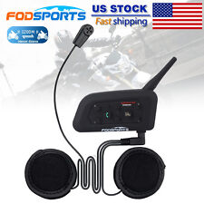 1200m BT Motorcycle Bike Helmet Bluetooth Soft Headset Intercom Interphone V6 US