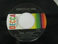 Bing Crosby anniversary song / happy birthday - 45 Record Vinyl Album 7""