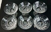 "Vintage German Peill & Putzler Pfalzgraf Design Crystal Glassware 4.5""D Lot of 6"