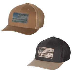 Columbia PFG Tree Flag Flexfit Ball Cap Fitted Hat 183710 - Choose Size and