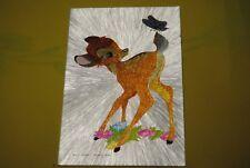 cp carte postale vintage  année 70 walt disney : bambi