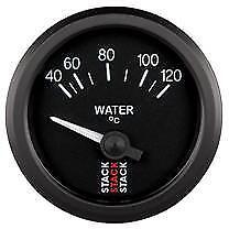 Stack Electrical Water Temperature Gauge - 40-120°C - Black Gauge Face