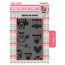 Uchi's Design FLYING OWLS Animation Clear Photopolymer Stamps  UDSTP006