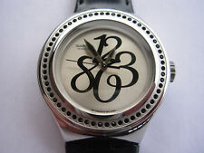 SWATCH IRONY NABAB PEARLY GLOSS BLACK - 2008 - YNS111 - NEW + pila gratis
