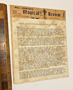 1928 WILL ANDRADE'S MAGICAL REVIEW ISSUE #3 AUSTRALIAN MAGICIAN'S SHOP NEWS BOOK