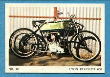 MOTO - Ed. Raf - Figurina/Sticker n. 10 - LYON PEUGEOT 600 -Rec