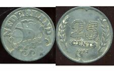 PAYS BAS  25 cent 1942