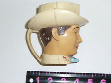 VINTAGE ROY ROGERS PLASTIC CUP HEAD made by f. & f. dayton,ohio