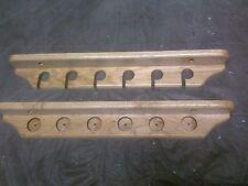 Handmade Oak 6-Rod Wall Rack Fishing Pole Holder