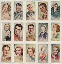 Original 1934 Players cigarette card set FILM STARS  Hepburn Gable Dietrich etc