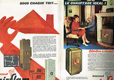 PUBLICITE ADVERTISING  1962   AIRFLAM   calorifères  mazout  ( 2 pages)