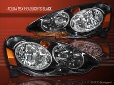 2002 2003 2004 ACURA RSX JDM STYLE BLACK HOUSING HEADLIGHTS