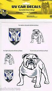 NRL Canterbury Bulldogs Outdoor UV Car Tattoo iTag Sticker Decal