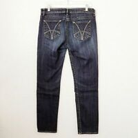 Kut from the Kloth Women's 8 Stevie Straight Leg Dark Wash Mid Rise Jeans