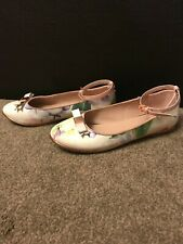 Ted Baker Floral Flat heel Girls shoes Size 1 (34) shoes Pre – Owned - Used