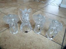 4 lot Angel (3 Praying Angels) tea light Candle Holder DePlomb Lead Crystal, USA