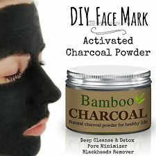 DIY Face Mask Activated Charcoal Powder Deep Cleanse Detox Peel Off Blackheads