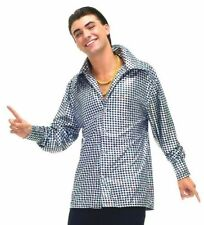 MENS RETRO DISCO FEVER 70'S DANCE PARTY SHIRT STD COSTUMES @MOREEEEE