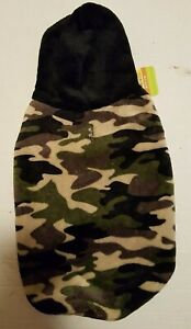 """DOG CAMO SWEATER HOODIE """"SUPER VELVETY SOFT"""" X-LARGE DOGS NEW WITH TAGS TOP PAW"""