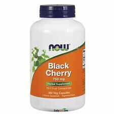 NOW® Black Cherry Fruit 750mg-180Veg Capsules, Fresh, Free Shipping, Made in USA