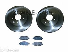 NISSAN QASHQAI REAR VENTED BRAKE DISCS & PADS SET