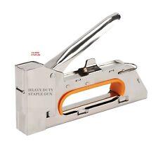 Heavy Duty Tacker Staple Gun with 200 Metal Staples Upholstery Stapler 4/6/8mm