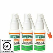 3 TheraBreath Fresh Breath Throat Spray 1 Ounce Bottles Pack of 3 New In Package