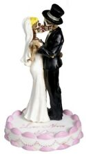 Love Never Dies Wedding Skulls Figurine Wedding Cake Topper