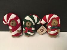 Boyds Bears Mini Peeker Ornaments (3) Candy Canes
