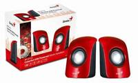 speakers  for PC & Laptop Genius SP-U115-R Stereo USB Powered Speakers RED