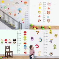 Children Height Growth Chart Measure Wall Sticker Kids Room Decor Animal Decal