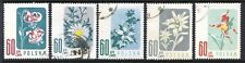 Poland Stamps Scott #781-785 Flowers 1957
