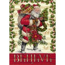 """Dimensions Gold Collection Counted Cross Stitch Kit Believe In Santa 5""""X7"""" NEW"""