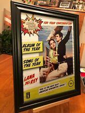 "2 BIG 10x13 FRAMED ORIGINAL LANA DEL REY ""NORMAN ROCKWELL"" LP ALBUM CD PROMO ADS"