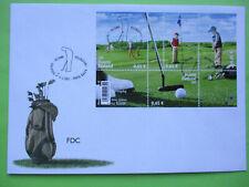 FDC  2005 Golf, miniature sheet
