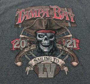 Bucs Tampa Bay Youth Tee T-Shirt XL Super Bowl Sailing to LV 55 Buccaneers 2021