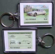 1972 Citroen Maserati SM Coupe Car Stamp Keyring (Auto 100 Automobile)
