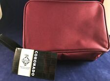 **NEW** - MERCURY LUGGAGE CORONADO TOILETRY BAG With CARRY HANDLE Maroon Color