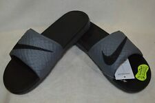 Nike Men's Benassi Solarsoft Grey/Black Slide Sandals - Size 7/8 NWOB 705474-090