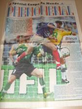 COUPE DU MONDE 1998 Coupure de presse