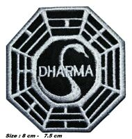DHARMA LOST SWAN PATCH EMBROIDERED IRON OR SEW ON APPLIQUE BADGE LOGO