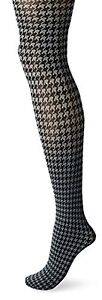 Hue  Women's Houndstooth Control Top Tights15808 Thunder Size S/M
