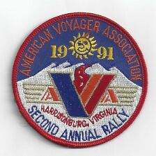 American Voyager Association Patch AVA Second Annual Rally Harrisonburg VA 1991