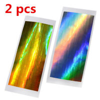 Gold+Silver Holographic Strip Tape Nail Art Stickers Holo Stripe Line Foil Decal