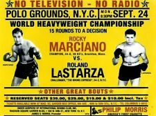 ROCKY MARCIANO vs ROLAND LaSTARZA 8X10 PHOTO BOXING POSTER PICTURE