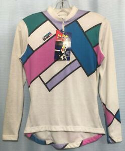 S NWT NOS VINTAGE '80s LOOK Cycling Jersey HINAULT LEMOND Teal Fuschia Lilac USA