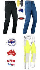 *FREE POSTAGE* WOMENS MOTORBIKE MADE WITH KEVLAR® JEANS WITH SIZES & COLORS